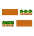Various kinds of stone wall for garden vector image