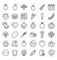 vegetable icon set line style vector image