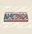 vintage america typography logo vector image