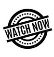 watch now rubber stamp vector image vector image
