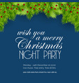 we wish you a merry christmas night party vector image vector image
