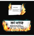 Banner on fire vector image