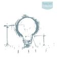 Construction big idea concept drawn sketch vector image