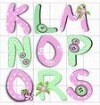 girly letter vector image
