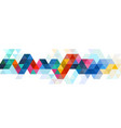 abstract colorful triangle modern strip template vector image vector image