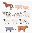 Animal farm set The horse pig cow goat and sheep