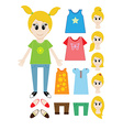 Big set of clothes for the girl Constructor vector image vector image
