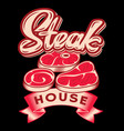 black and white template for steak house vector image