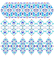 blue oriental border and ornament fifteen vector image vector image