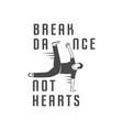 break dance school logotype vector image vector image