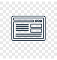 Browser concept linear icon isolated on