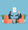 business contract partnership businessmen vector image vector image