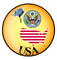 button USA vector image vector image