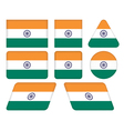 buttons with flag of India vector image vector image
