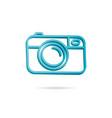 camera icon photo line 3d icon vector image