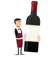cartoon french winemaker vector image