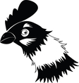 Chicken in black and white vector image vector image