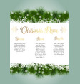 christmas menu design vector image