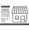 convenience store line icon vector image vector image