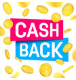 creative of cash back vector image