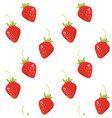 crooked tasty ripe sweet strawberry seamless vector image