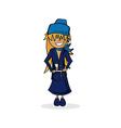cute stewardess cartoon vector image