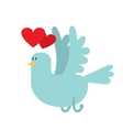 Dove with hearts icon vector image vector image