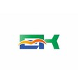 EK Logo vector image vector image