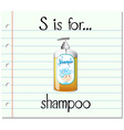 Flashcard letter S if ro shampoo vector image vector image