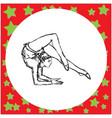 flexible gymnast performing vector image vector image