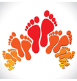 foot background vector image vector image