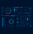 futuristic hologram ui science hud interfaces vector image