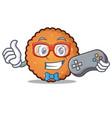 gamer cookies mascot cartoon style vector image