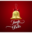 Golden Christmas Bell vector image