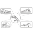 Graphics of Transport Icons vector image