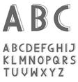 Grey letter set vector image vector image