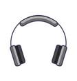 headphones technology music sound gadget icon vector image