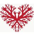 hearth hands vector image vector image