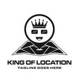 king location logo vector image