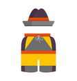 man summer hat and shorts icon vector image vector image