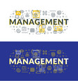 management flat line concept for web banner and vector image vector image