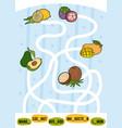 maze game for children set fruits vector image vector image