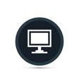 monitor icon simple vector image vector image
