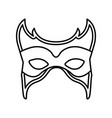 monochrome silhouette with carnival mask vector image vector image