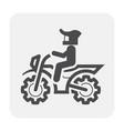 motocross icon black vector image vector image