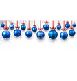 New Year banner with Christmas balls vector image vector image