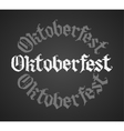 Oktoberfest chalk lettering Single word vector image vector image