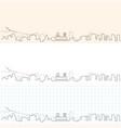 oslo hand drawn skyline vector image vector image