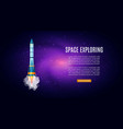outer space exploring with galaxy cosmos vector image vector image