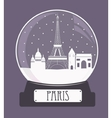 Paris christmas glass ball vector image vector image